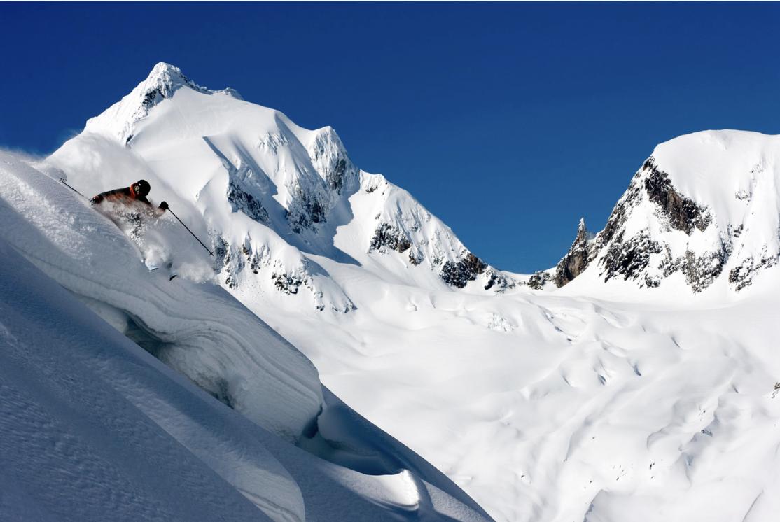 Skiing at Revelstoke Mountain Resort, Revelstoke, BC